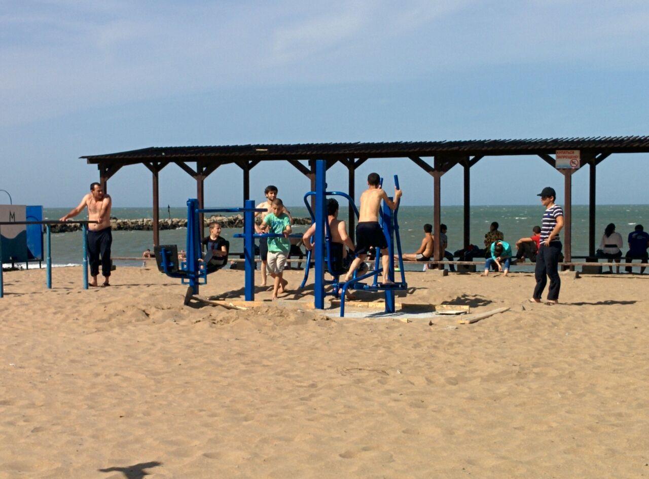 Пляжи в махачкале фото